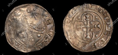 Editorial picture of Silver penny of Baron Eustace Fitzjohn, Leeds, UK - 16 Oct 2020