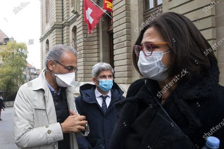 Editorial picture of Swiss leading Islamic scholar Tariq Ramadan at Geneva's courthouse after first hearing of an investigation over sexual assault, Geneva Geneve Genf, Switzerland - 10 Nov 2020