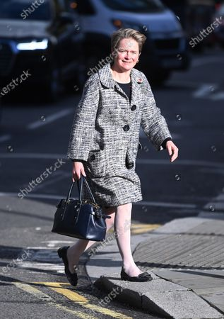 Baroness Diana 'Dido' Harding, the head of the NHS Test and Trace programme walks in central London, Britain, 10 November 2020. The UK remains in its second national lockdown. This comes as news reports state that Covid-19 related deaths in Britain have increased by 46 percent in less than a week. Meanwhile British Prime Minister Boris Johnson has sated that a vaccine could be available by Christmas.
