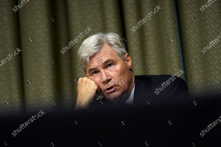 Sen. Sheldon Whitehouse, D-R.I., speaks during a Senate Judiciary Committee hearing on Capitol Hill in Washington, on a probe of the FBI's Russia investigation