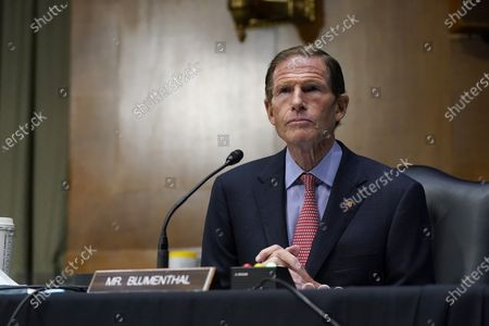 Sen. Richard Blumenthal, D-Conn., speaks during a Senate Judiciary Committee hearing on Capitol Hill in Washington, on a probe of the FBI's Russia investigation