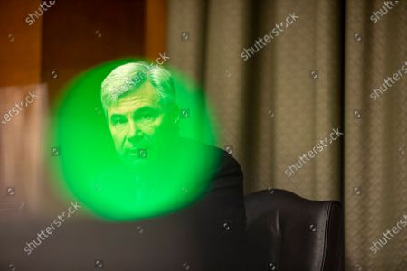 US Senator Sheldon Whitehouse of New York during a Senate Judiciary Committee hearing on a probe of the FBI's investigation into ties between the Trump campaign and Russia (Known as Crossfire Hurricane Investigation), on Capitol Hill in Washington, DC, USA, 10 November 2020.