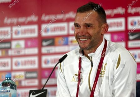Ukrainian's national soccer team head coach Andriy Shevchenko during a press conference in Chorzow, south Poland, 10 November 2020. Ukraine will face Poland in their international friendly soccer match on 11 November 2020.
