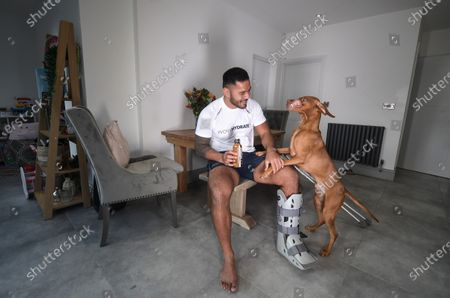 Manu Tuilagi bends back the four fingers on his left hand. 'My ankle pretty much overstretched like this,' he says, demonstrating how his Achilles tendon snapped in two.