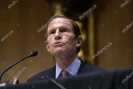 United States Senator Richard Blumenthal (Democrat of Connecticut), speaks during a US Senate Judiciary Committee hearing on Capitol Hill in Washington, DC, on a probe of the FBI's Russia investigation.
