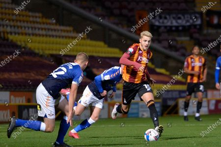 Tyler French during the EFL Trophy match between Bradford City and Oldham Athletic at the Utilita Energy Stadium, Bradford