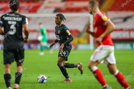 Leyton Orient defender Jayden Sweeney (24) during the EFL Trophy match between Charlton Athletic and Leyton Orient at The Valley, London