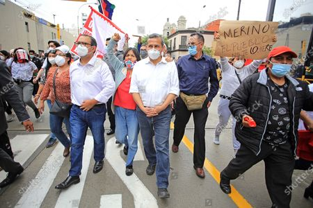 Editorial picture of Protesters march to Congress against the inauguration of Peru's new president, Lima - 10 Nov 2020