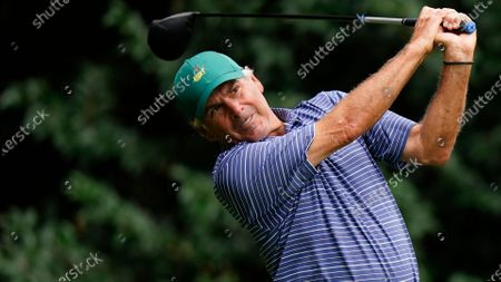 Fred Couples during a practice round for the Masters golf tournament, in Augusta, Ga