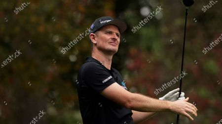 Justin Rose, of England, during a practice round for the Masters golf tournament, in Augusta, Ga