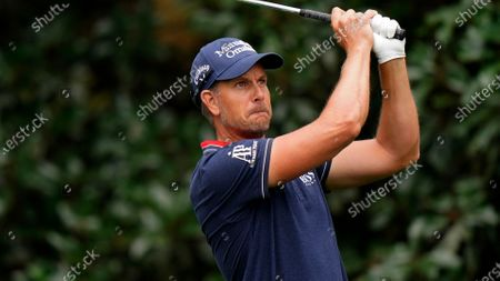 Henrik Stenson, of Sweden, during a practice round for the Masters golf tournament, in Augusta, Ga