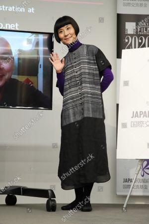 "Hairi Katagiri - The 33rd Tokyo International Film Festival. Press conference for the ""Tsai Ming-Liang and Hairi Katagiri"" in Tokyo, Japan on November 6, 2020."