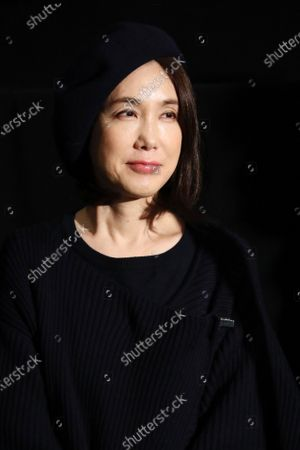 """Stock Image of Mariko Tsutsui - The 33rd Tokyo International Film Festival. Press conference for the movie """"A Girl Missing"""" in Tokyo, Japan on November 7, 2020."""