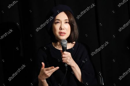 """Stock Photo of Mariko Tsutsui - The 33rd Tokyo International Film Festival. Press conference for the movie """"A Girl Missing"""" in Tokyo, Japan on November 7, 2020."""