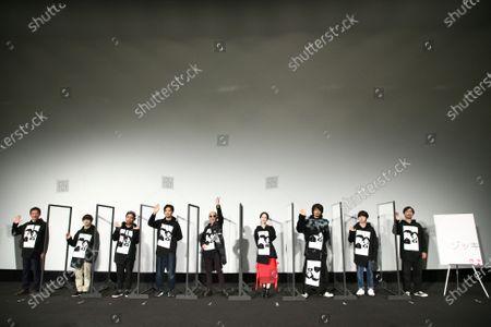 """Takayuki Yamada, Ryuhei Matsuda, Naoto Takenaka, Rena Matsui, Takumi Saito, Yusaku Mori - The 33rd Tokyo International Film Festival. Press conference for the movie """"ZOKKI"""" in Tokyo, Japan on November 8, 2020."""