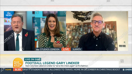 Piers Morgan, Susanna Reid and Gary Lineker