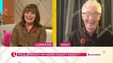 Stock Picture of Lorraine Kelly and Paul O'Grady