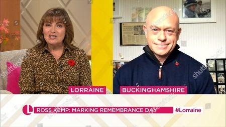 Lorraine Kelly and Ross Kemp