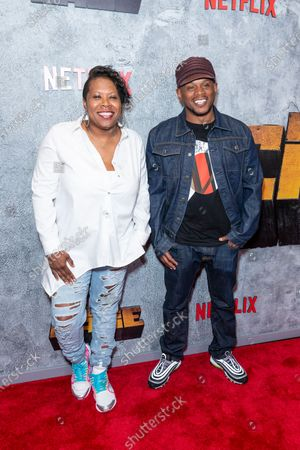 Heather B and Sway Calloway attend the Luke Cage Season 2 premiere at The Edison Ballroom