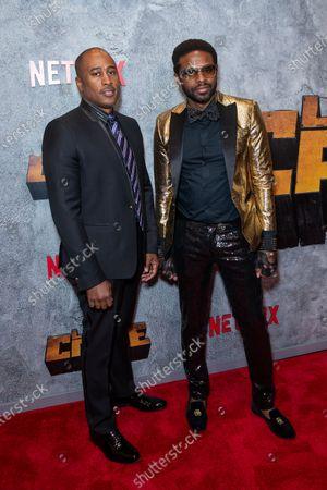 Ali Shaheed Muhammad, Adrian Younge attend the Luke Cage Season 2 premiere at The Edison Ballroom