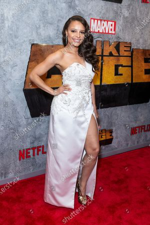 Antonique Smith attends the Luke Cage Season 2 premiere at The Edison Ballroom