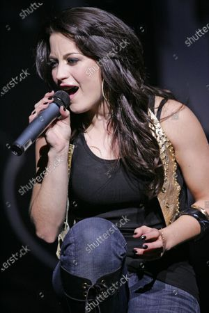 Joanna Pacitti performs at the Rosemont Theater in Rosemont, IL.