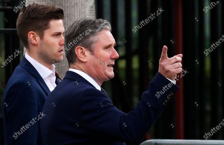 Britain's opposition Labour Party leader Keir Starmer arrives at Westminster Abbey for Armistice Day service in London, . Services held in many nations Wednesday will commemorate the 102nd anniversary of the armistice ending World War I and honouring all those who died in war