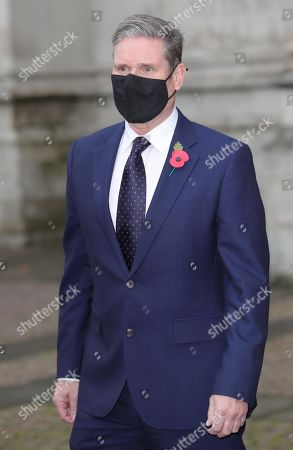 Labour Party leader Sir Keir Starmer leaves Westminster Abbey in London, after attending a service to mark Armistice Day and the centenary of the burial of the unknown warrior.
