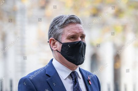 Labour Party leader Sir Keir Starmer arrives at Westminster Abbey in London, to attend a service to mark Armistice Day and the centenary of the burial of the unknown warrior.