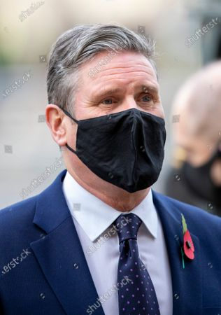 Stock Picture of Keir Starmer attends a service at Westminster Abbey to mark the the centenary of the burial of the Unknown Warrior.