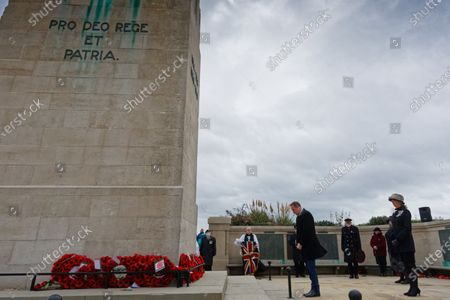 Editorial photo of Armistice Day at the cenotaph in Swansea, Wales, UK - 11 Nov 2020