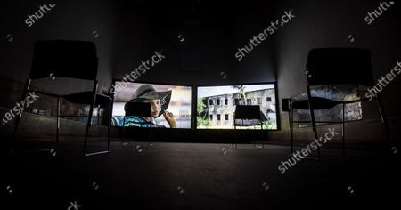 Editorial photo of Exhibition Earth is Flat in Seville, Spain - 11 Nov 2020