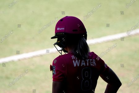 Ellyse Perry of the Sydney Sixers waits before the Women's Big Bash League cricket match between Perth Scorchers and Sydney Sixers