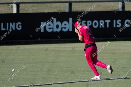 Ellyse Perry of the Sydney Sixers drops a catch during the Women's Big Bash League cricket match between Perth Scorchers and Sydney Sixers
