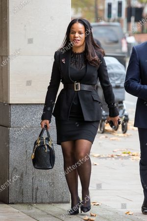 Claudia Webbe MP arrives at Westminster Magistrates Court charged with harassing a woman.