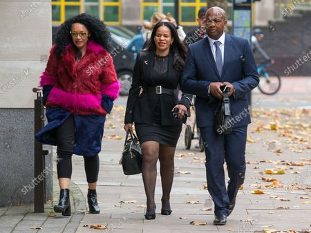 Claudia Webbe MP (centre) arrives at Westminster Magistrates Court charged with harassing a woman.