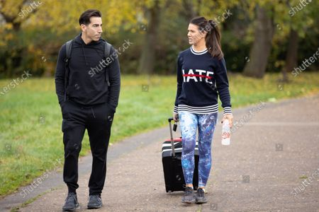 Rebekah Vardy and training partner Andy Buchanan after Dancing On Ice rehearsals.