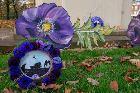 Editorial photo of Armistice Day, War Horse Memorial, Ascot, Berkshire, UK - 10 Nov 2020