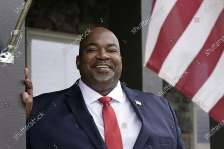 Stock Image of North Carolina Lt. Gov-elect Mark Robinson is shown at his home in Colfax, N.C., . Robinson will serve as North Carolina's first Black lieutenant governor. He hopes he can work with Democratic Gov. Roy Cooper and state lawmakers on veterans-related issues