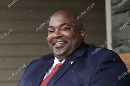 North Carolina Lt. Gov-elect Mark Robinson is shown at his home in Colfax, N.C., . Robinson will serve as North Carolina's first Black lieutenant governor. He hopes he can work with Democratic Gov. Roy Cooper and state lawmakers on veterans-related issues