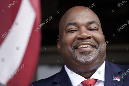 Stock Photo of North Carolina Lt. Gov-elect Mark Robinson is shown at his home in Colfax, N.C., . Robinson will serve as North Carolina's first Black lieutenant governor. He hopes he can work with Democratic Gov. Roy Cooper and state lawmakers on veterans-related issues
