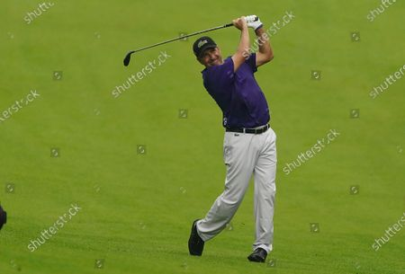 Jose Maria Olazabal of Spain hits from the fairway on the thirteenth hole during the final practice round of the 2020 Masters Tournament at the Augusta National Golf Club in Augusta, Georgia, USA, 11 November 2020. After being delayed seven months by the coronavirus pandemic, the 2020 Masters Tournament is being held without patrons 12 November through 15 November.