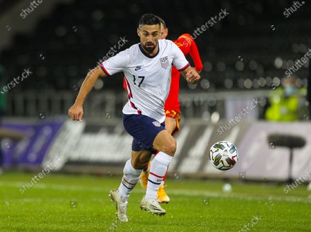 Sebastian Lletget of USA brings the ball forward; Liberty Stadium, Swansea, Glamorgan, Wales; International Football Friendly; Wales versus United States of America.