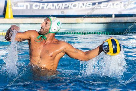 Valentino Gallo (Ortigia) during Ortigia vs Steaua Bucarest, Waterpolo LEN Cup - Champions League Men match