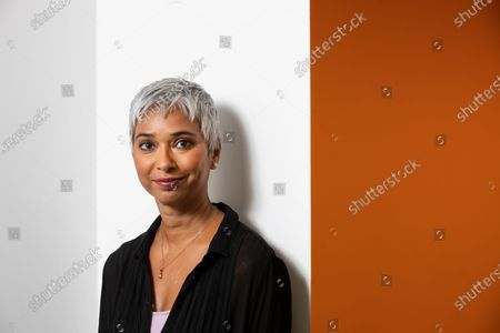 Feature at the Audible recording studio in London for Tim Dowling article.Pictured is actor and narrator Tania Rodrigues at the Audible studios.
