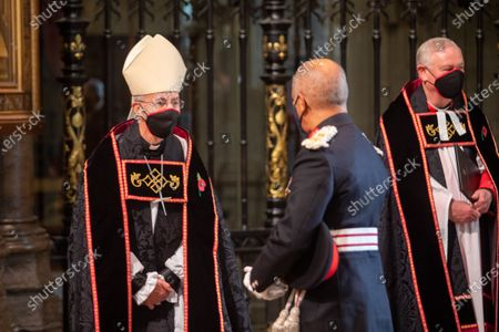 The Archbishop of Canterbury, The Most Reverend and Right Honourable Justin Welby speaks with The Lord Lieutenant of Greater London Sir Kenneth Olisa OBE