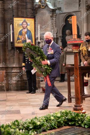 His Royal Highness Prince Charles takes his Wreath to lay on the Grave of the Unknown Warrior.The Service was led by The The Very Reverend John Hall, The Very Reverend Dr David Hoyle and attended by representative from various religious leaders and members of the armed forces.