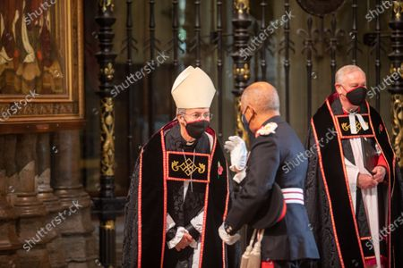 The Archbishop of Canterbury, The Most Reverend and Right Honourable Justin Welby talk to the Lord Lieutenant.