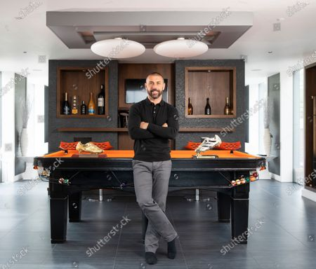 England and Sunderland striker Kevin Phillips at home in Lichfield with a couple of his Golden Boot trophies.