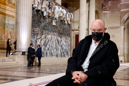 Stock Photo of German artist Anselm Kiefer poses in front of his artwork inside the Pantheon monument, prior to a ceremony honouring the World War I soldiers and French author Maurice Genevoix who will be inducted to the Pantheon where key figures from France's history are honoured, in Paris, France, 11 November 2020, as part of the commemorations marking the 102nd anniversary of the 11 November 1918 Armistice, ending World War I (WWI). France on 11 November moves the remains of World War I writer Maurice Genevoix into its Pantheon of national heroes in Paris, an honour championed by the French president to encourage remembrance of the conflict. Genevoix wrote five memoirs of his time as a frontline soldier experiencing the horrors of trench warfare in the conflict, which he later collected into a single book 'Ceux de 14' ('Men of 14').